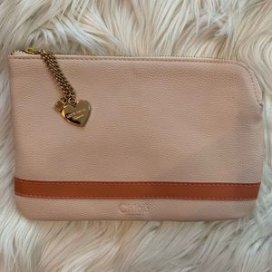 CHLOE Cosmetic bag w/ gold charms